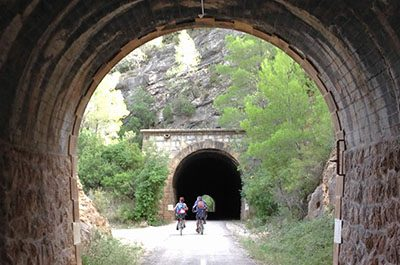 Cycling tunnel - El Figueral Rural Tourism Spain