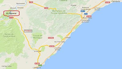 El Figueral Beach Map - El Figueral Rural Tourism Spain
