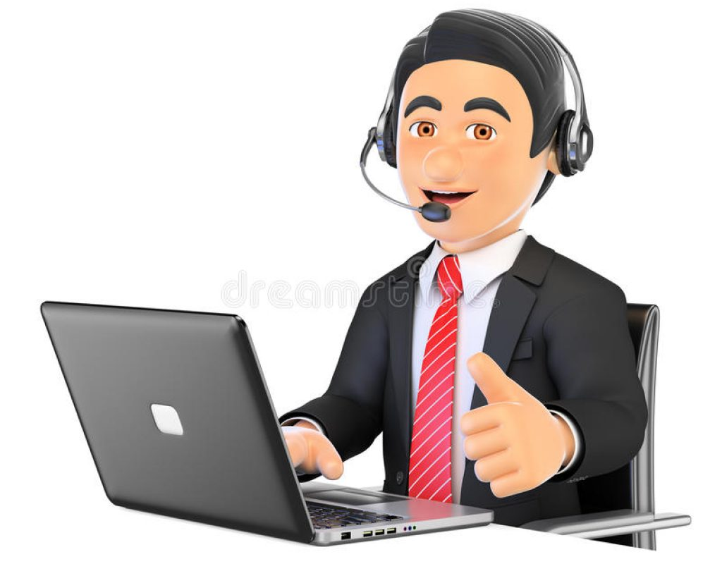 d-call-center-employee-working-thumb-up-business-people-illustration-white-background-72389106